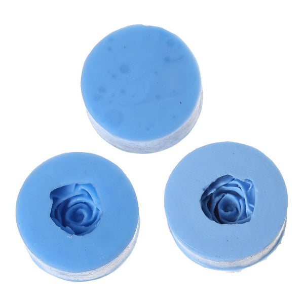 "Rose Silicone Mold Polymer Clay Flower Mold Pattern 1-1/8"" - Sexy Sparkles Fashion Jewelry - 1"