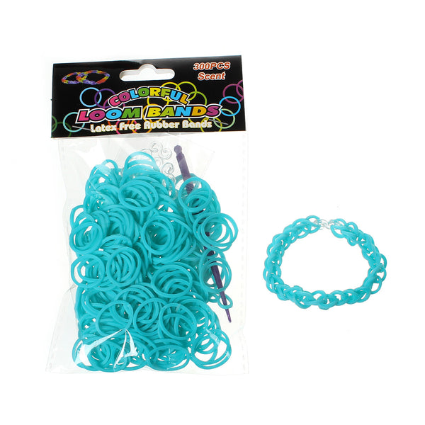 300 Pcs Rubber Bands DIY Loom Bracelet Making Kit with Hook Crochet and S Clips (Malachite Green) - Sexy Sparkles Fashion Jewelry