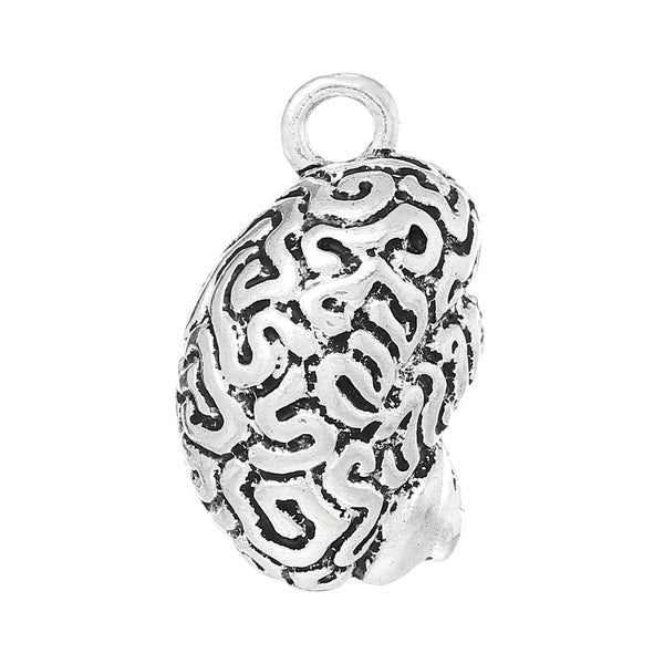 1 Pc Charm Pendants 3D Anatomical Human Cerebrum Brain - Sexy Sparkles Fashion Jewelry - 1