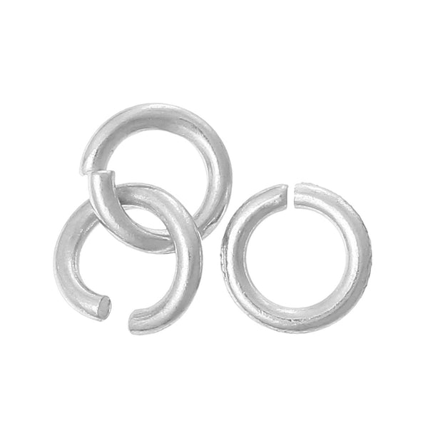 10 Pc.925 Sterling Silver Plated Open Jump Rings 3.5mm - Sexy Sparkles Fashion Jewelry - 1