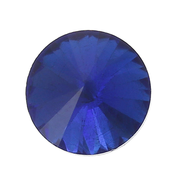 Sexy Sparkles 10 Pcs Round Glass Point Back Rhinestones Faceted 10mm (Royal Blue)