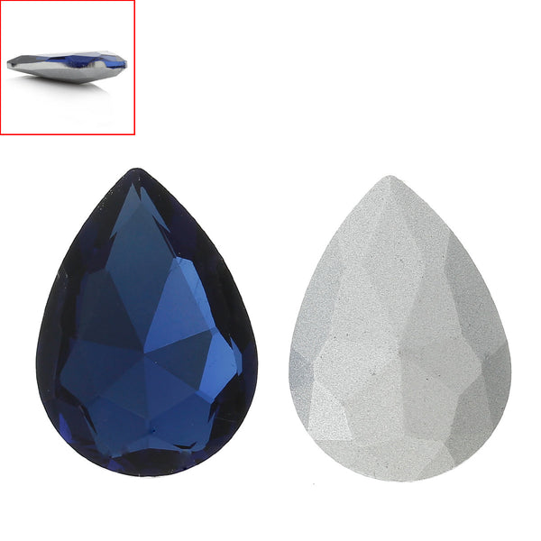 Glass Point Back Rhinestones Faceted (Blue Black) - Sexy Sparkles Fashion Jewelry - 1