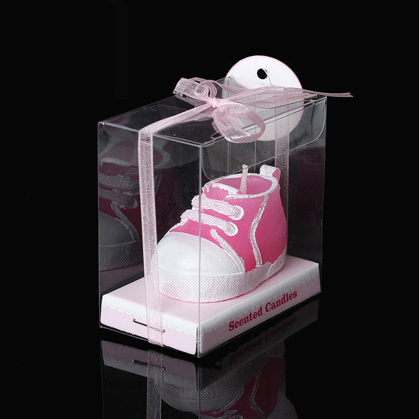 1 Pc Baby Pink Sneaker Bootie Baby Shower Votive Candle Favors 7cm - Sexy Sparkles Fashion Jewelry - 1