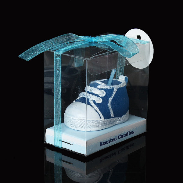 1 Pc Baby Blue Sneaker Bootie Baby Shower Votive Candle Favors 7cm - Sexy Sparkles Fashion Jewelry - 1