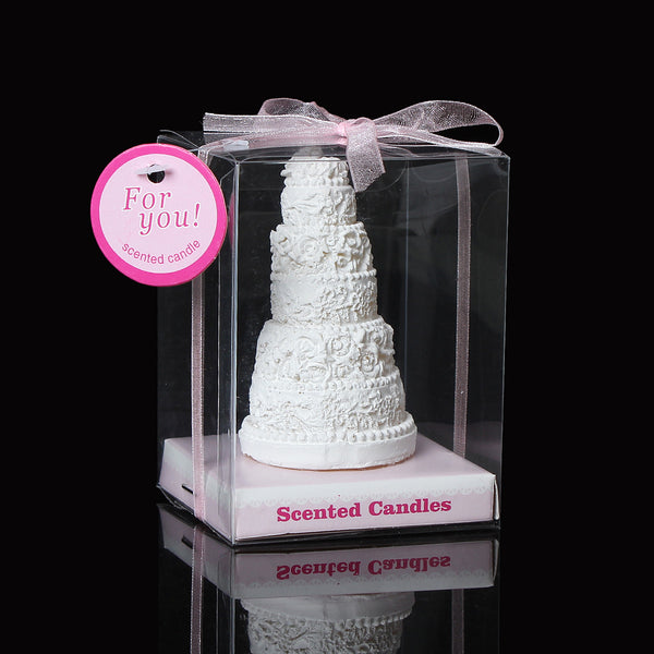 1 Pc White Cake Wedding Baby Shower Votive Candle Favors 6cm [Health and Beauty] - Sexy Sparkles Fashion Jewelry - 1