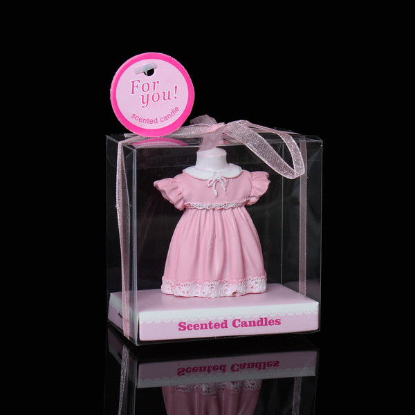 1 Pc Baby Pink Dress Baby Shower Votive Candle Favors 7cm [Health and Beauty] - Sexy Sparkles Fashion Jewelry - 1