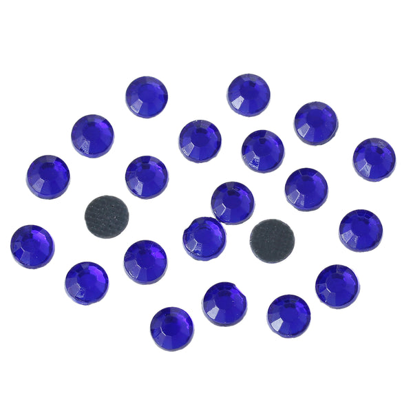 Sexy Sparkles DIY Iron on Fix Hot Flatback Rhinestones ss20 5mm (Royal Blue)