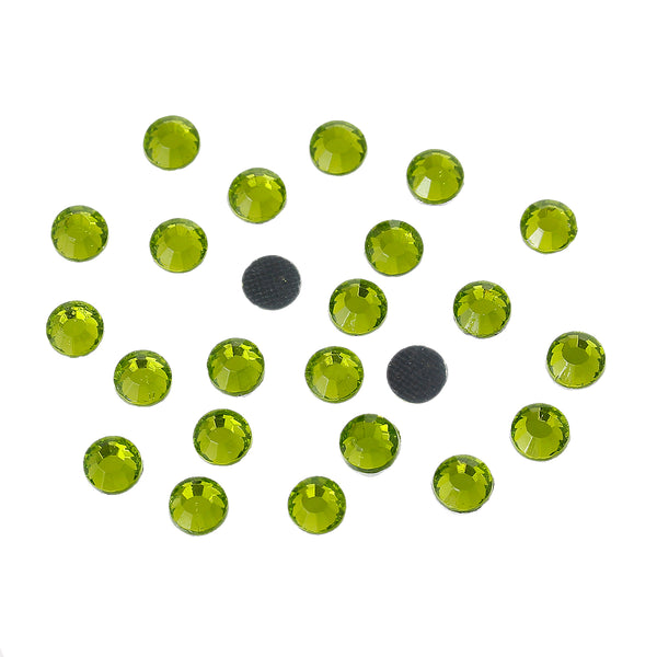 Sexy Sparkles DIY Iron on Fix Hot Flatback Rhinestones ss20 5mm (Grass Green)