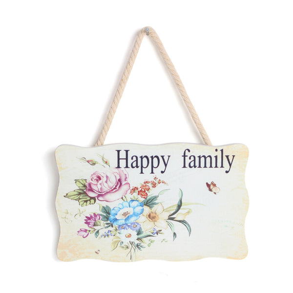 """Happy Family"" Decorative Wood Wall Hanging Sign [Kitchen] - Sexy Sparkles Fashion Jewelry - 1"