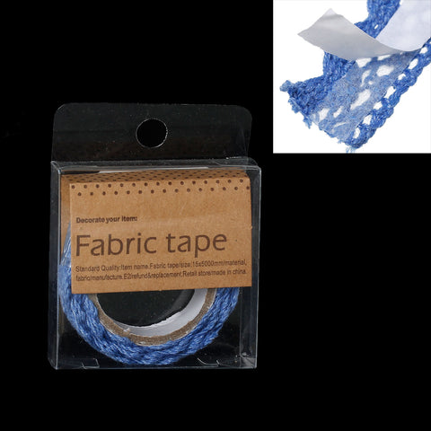 Sexy Sparkles Fabric Adhesive Scrapbooking Craft Decoration Gift Sticker Tape 1 Roll (Blue)