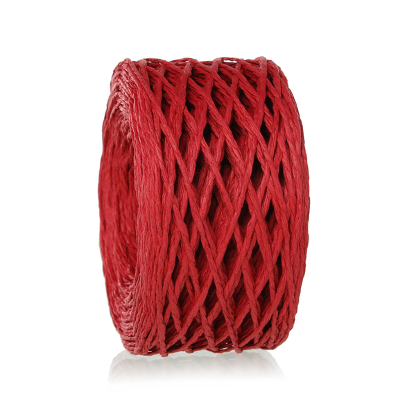 "Sexy Sparkles Paper Jewelry Cord Rope Roll 2mm (1/8"") Approx.70m (Red)"