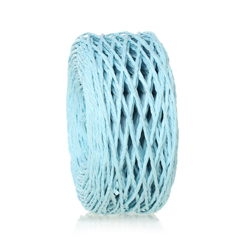 "Sexy Sparkles Paper Jewelry Cord Rope Roll 2mm (1/8"") Approx.70m (Light Blue)"