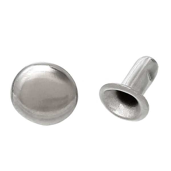 Metal Round Snap Fastener Button Silver Tone 7mm X 5mm 500 Sets - Sexy Sparkles Fashion Jewelry - 1