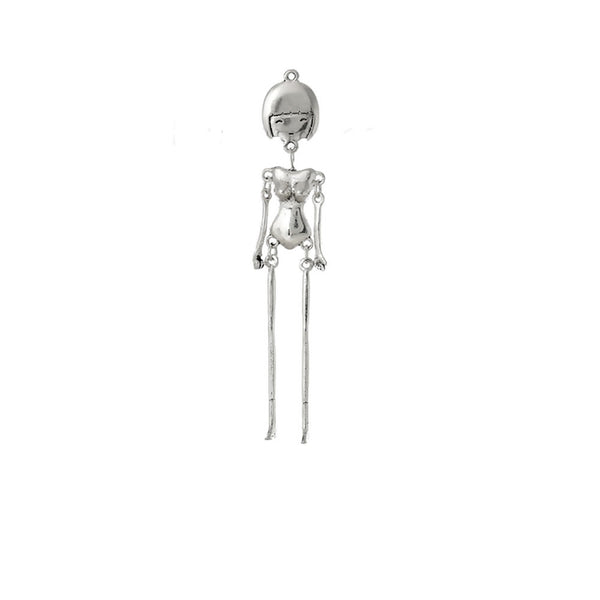 "1 Pc. Body DIY Toy Doll Making Charm Pendants Antique Silver 4-1/8"" x 6/8"" - Sexy Sparkles Fashion Jewelry - 1"