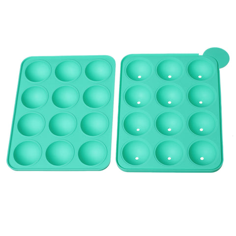 Sexy Sparkles Baking Tools Silicone Mold Pan Tray Cake Pop Lollipop Sticks (Green Silicone Mold Pan)