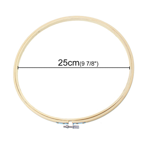 Sexy sparkles Bamboo Embroidery Hoop Cross Stitch Supplies Circle Round Natural (25cm 9-7/8in)