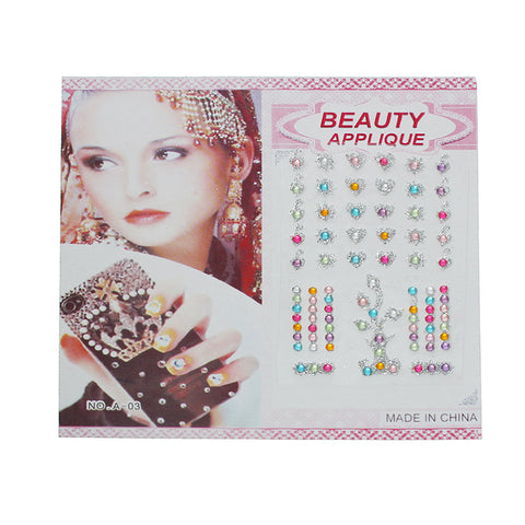 Sexy Sparkles Glitter Shimmer Temporary Tattoo Sticker Body Art Flowers, Starts, Hearts with Rhinestones 1 Sheet (Pink Blue Hearts)
