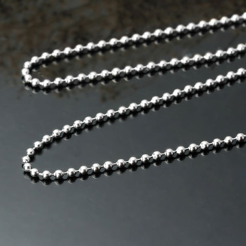 304 Stainless Steel Chain Jewelry Necklace Silver Tone Ball Chains with Lobster Claw Clasp 2.3mm Dia - Sexy Sparkles Fashion Jewelry - 2