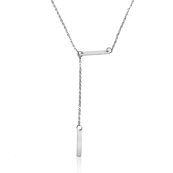 Y Shaped Lariat Necklace Link Cable Chain - Sexy Sparkles Fashion Jewelry - 1