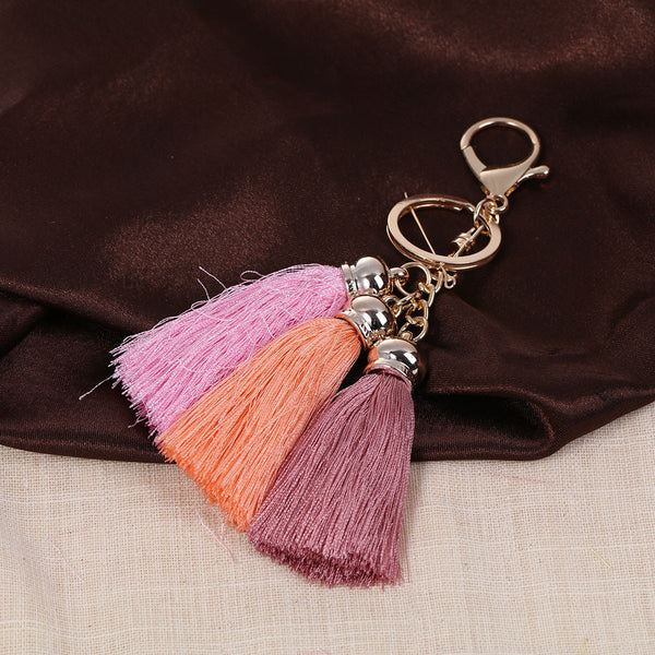 Sexy Sparkles Key Chains Key Rings Lobster Clasp With Multi color Rayon Tassel - Sexy Sparkles Fashion Jewelry - 3