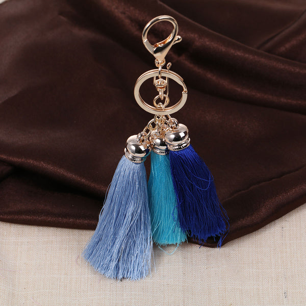 Sexy Sparkles Key Chains Key Rings Lobster Clasp With Multi color Rayon Tassel - Sexy Sparkles Fashion Jewelry - 1