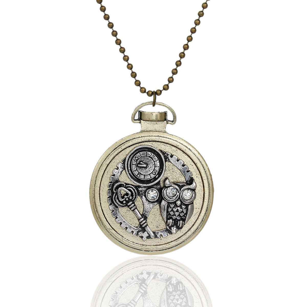 owl jiayiqi sale vintage jewelry for men hot necklaces gear classic steampunk pendant