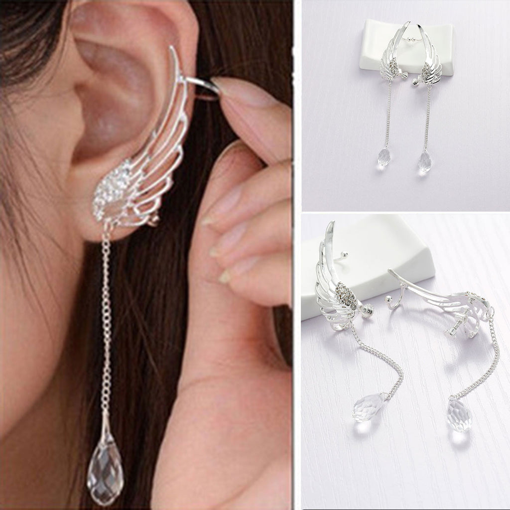 cartilage wrap cuff piercing cute clip around earrings pc leaf non on