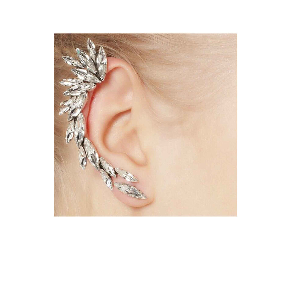 piercing earring crystal wrap ear item fashion in butterfly cuff from women bijoux pair jewelry earrings for brincos clip rhinestone