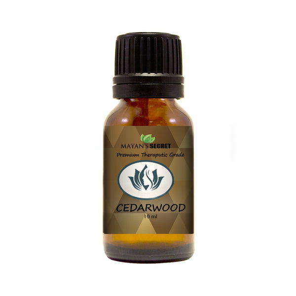 Cedarwood Essential Oil - 100% Pure Therapeutic Grade for Sleep, Hair 10ml Glass Bottle