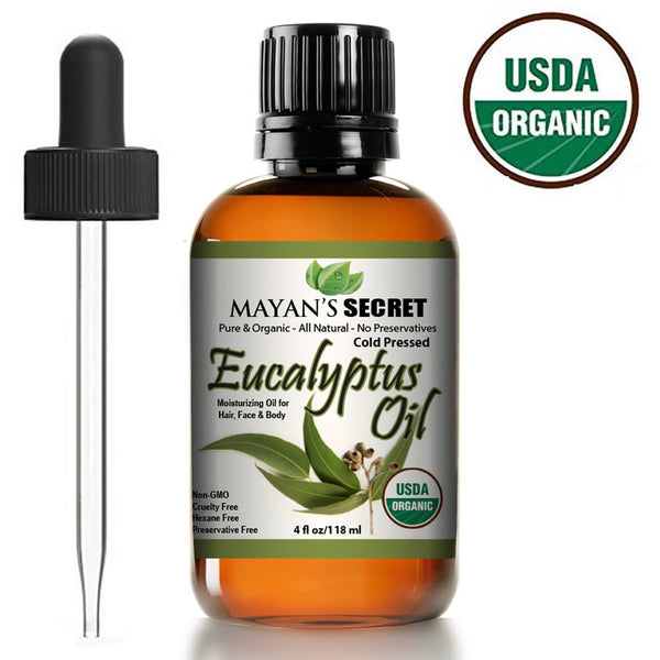 Smithii Eucalyptus USDA Certified Organic, Best Therapeutic Grade Essential Oil  by Mayan's Secret