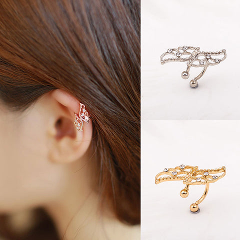Set of 2 Pairs Ear Cuffs Clip Wrap Earrings