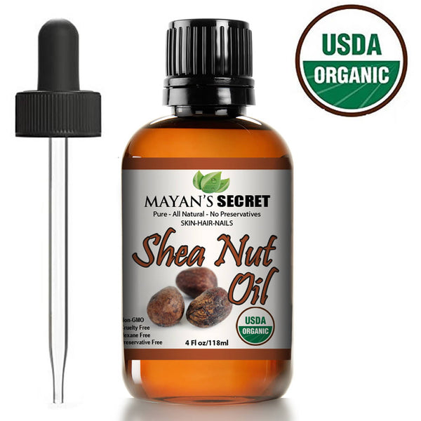 Shea Nut Oil USDA Certified Organic Natural Undiluted Cold Pressed for Skin Hair Lips and Nails