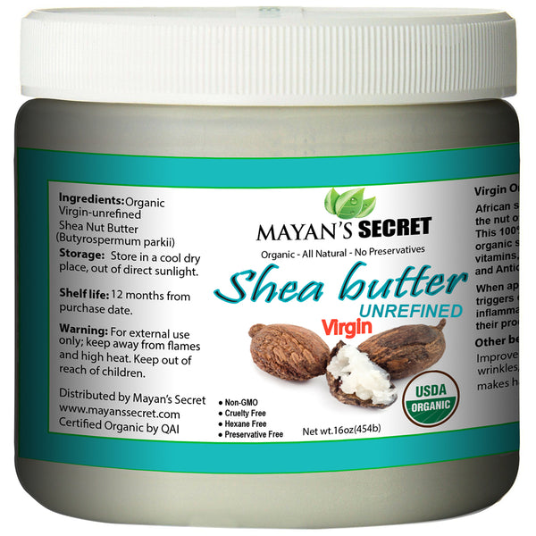 Shea Butter USDA Organic Certified, Raw, Unrefined Amazing for Skin Elasticity, Stretch Marks