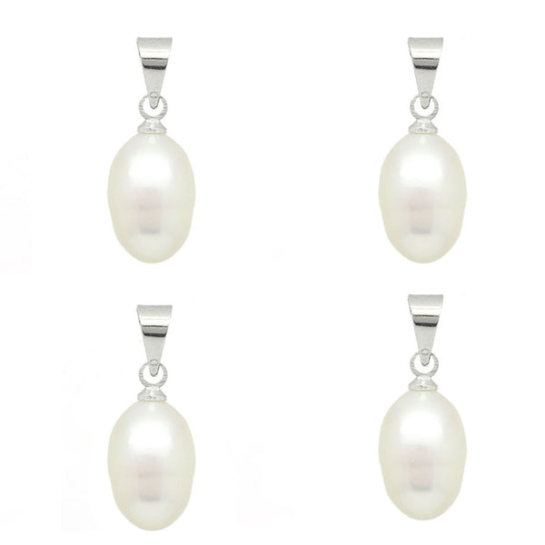 4 Acrylic Pearl Pendants for Necklace or Bracelet