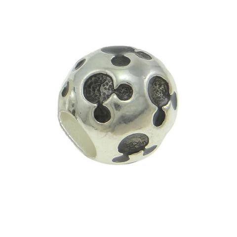 Black Mickey Mouse Charm Spacer European Bead Compatible for Most European Snake Chain Bracelets