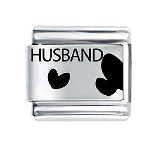 Love Husband Italian Link Charm for Italian Bracelet - Sexy Sparkles Fashion Jewelry - 1