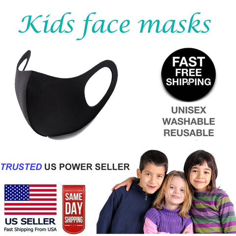 Boys Girls Kids Child Unisex Face Mask Reusable Washable Protective Mouth Spandex Mask