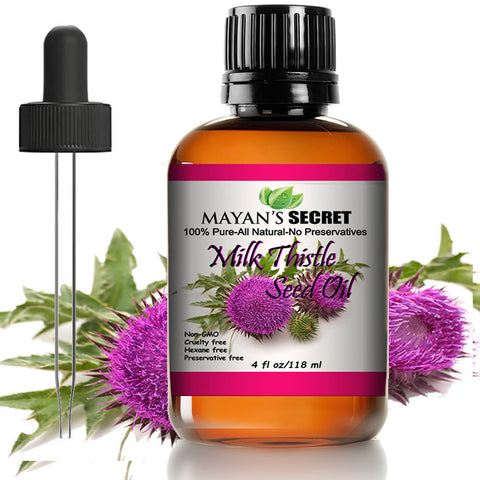 Mayan's Secret Milk Thistle Seed Oil 100% Pure Cold Pressed Rich in Vitamin E  and Antioxidant for Anti-aging Skin