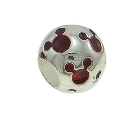 Red Mouse Charm Spacer European Bead Compatible for Most European Snake Chain Bracelets