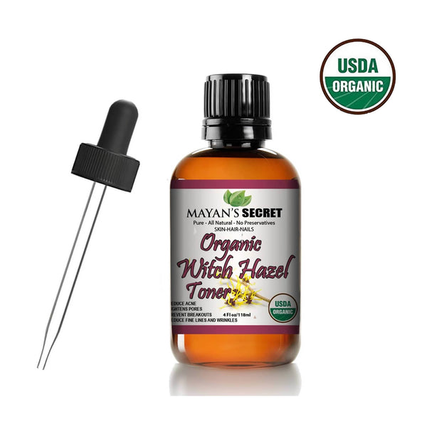 USDA Certified Organic Witch Hazel Toner by Mayan's Secret Facial toner