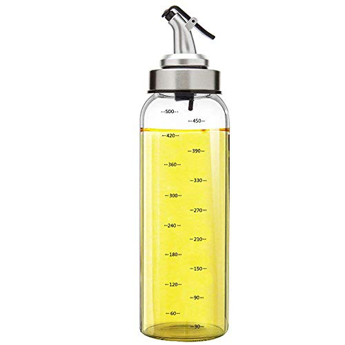 Femora Borosilicate Glass Oil Bottle Jar Dispenser (500ml)