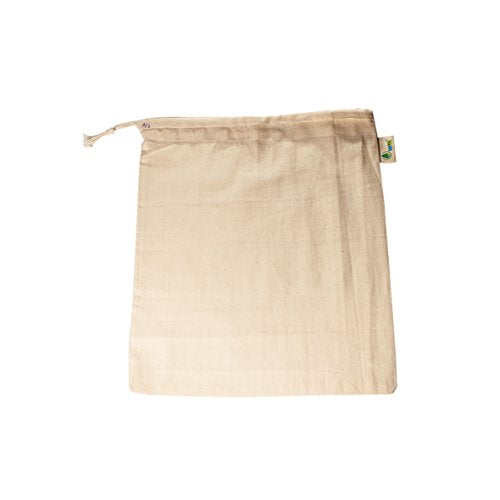 Noyyal Go Green (The Nilgiri Tahr) Reusable Cotton Produce Bags - Set Of 5 (5 Medium 12X10 Inches) | SpreeIndia.com - India's First Website That Discovers Eco-Friendly Products