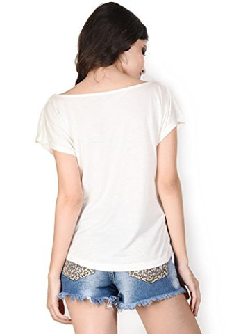 The Glu Affair Women's Modal White Boat Neck Top, Large | SpreeIndia.com - India's First Website That Discovers Eco-Friendly Products