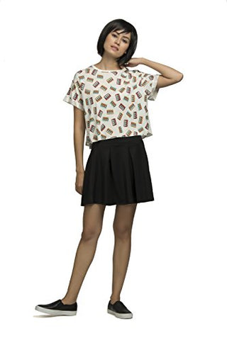 The Glu Affair Women's Modal White Round Neck Crop Top,Medium | SpreeIndia.com - India's First Website That Discovers Eco-Friendly Products