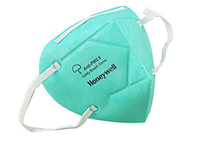 Honeywell E-D7002-BU10-IND_GRN PM 2.5 Anti-Pollution Foldable Face Mask, Fresh Green, Pack of 10