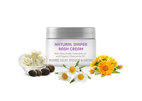 The Moms Co. Natural Diaper Rash Cream with Zinc Oxide, Organic Chamomile & Jojoba Oils, Oat Protein - 25g