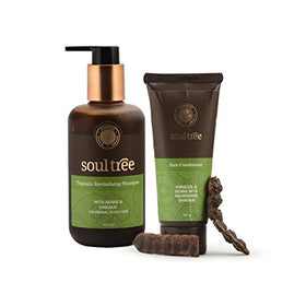 SoulTree Triphala Revitalising Shampoo & Hibiscus Hair Conditioner Value Pack