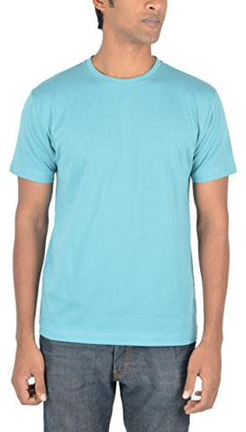 Woodwose Organic Clothing Men's Organic Cotton T-Shirt (OCMTSBB01-S, Blue, Small) | SpreeIndia.com - India's First Website That Discovers Eco-Friendly Products