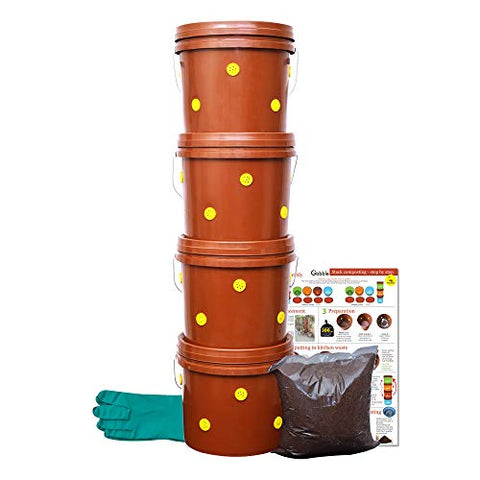 Plastic Indoor Compost Kit by DailyDump (2 Kg, 6-Pieces)