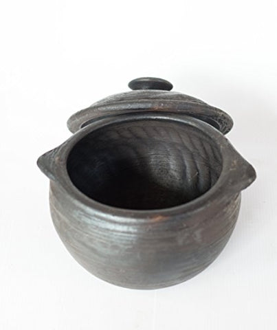 Black Pottery Clay Pot/Sauce Pot | SpreeIndia.com - India's First Website That Discovers Eco-Friendly Products